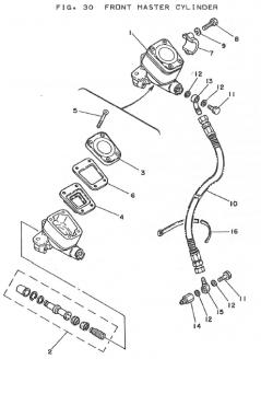 Yamaha TZ250 H-J Front Master Cylinder