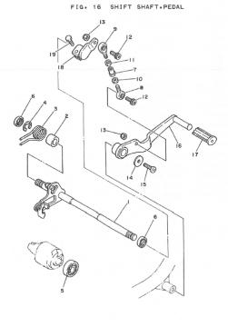 Yamaha TZ250 H-J Shift Shaft - Pedal